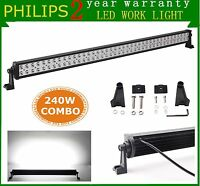 PHILIPS 42inch 240W LED Light Bar Combo Offroad Driving Lamp Ford RZR SUV 4WD 40