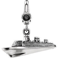 Cruise Ship Charm In Sterling Silver