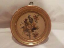 Vintage Floral Borghese Chalkware Plaque