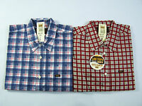 Lee Basic Shirt Men's Checked Shirts Medium Large Red Blue Unworn Vtg With Tags