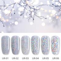 7.5ml Soak Off Silver Holographics UV Gel Polish Sequins  Nail Gel Varnish