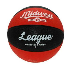 Midwest League Basketball Black/Red - Available in Sizes 3, 5, 6, 7