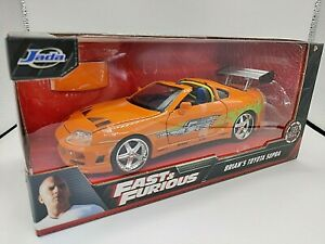 VOITURE JADA TOYS FAST AND FURIOUS BRIAN'S TOYOTA SUPRA 1:24 NEUF BOITE