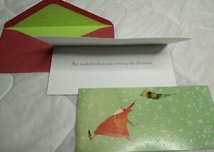 32 piece Box Set Papyrus 8x4 Christmas Cards & Lined Envelopes Glitter Snowflake