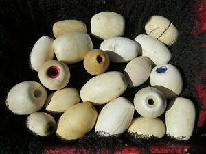 20 Authentic Used White Salmon Gill Net & Alaskan Seine Net Floats (F1-401A)