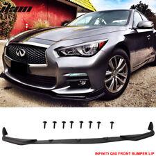 For 14-17 Infiniti Q50 Base Model Front Bumper Lip Spoiler - Pu