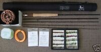 FLY FISHING ROD COMBO  STARTER OUTFIT 8ft .LW3/4, 4 SEC