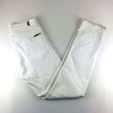 7 for all mankind Slimmy Slim Stretch White Denim Jeans Mens 32x34 NWOT