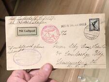 Rare Postal Postal Cover LZ-127 Zeppelin 1929 Germany To Cincinnati USA