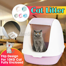 Anti Splashing Litter Boxes Large Flip Design Box Splash-proof Cat Litter Boxes