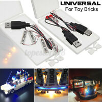 Universal USB LED Light Kit Fit For Lego Toy Bricks 4 Bar-type /Round  * ◌