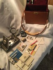 Vintage Polaroid Model 800 Land Camera Case Accessories Instructions