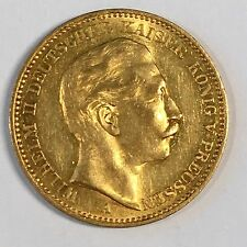 1904-A Germany Prussia 20 Mark Gold Coin - High Quality Scans #C910