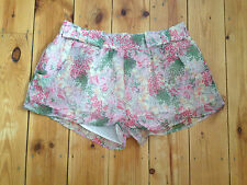 TOPSHOP LADIES FLORAL LINED SHORTS UK 10