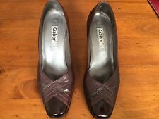 Gabor Ladies Brown Heeled Shoes Size 5 1/2. Good Condition.