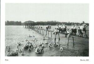 "~Post Card~*Mississippi-""The Pier"" (Wooden Pier).-- Biloxi Beach (G31)"