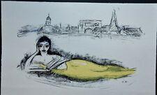"""Superbe Lithographie de Kees Van Dongen """" Sirène , Regards sur Paris """""""