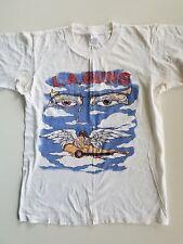 VINTAGE L.A. GUNS 1990-91  RIP & TEAR TOUR TEE T-SHIRT SMALL France made WHITE