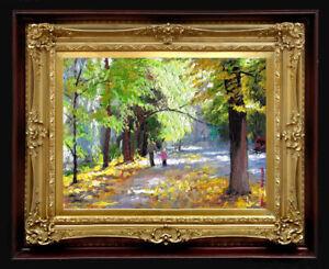 "Oil Painting PRINTED on Canvas Arseni ~ AUTUMN 40"" X 30"" NO FRAME Artist"