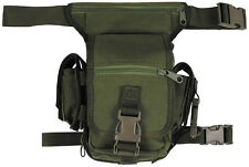 MFH Hip Bag Heavy-duty Camping Military Style Patrol Belt 10 Pockets OD Green