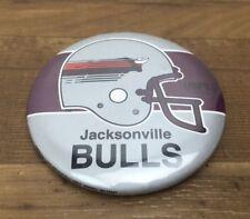 Jacksonville Bulls Button Pin Bade Vintage USFL Football