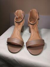 GOOD SOLES by Catherines Women's Beige Sandals Heels.  Size 9 W.  NWOT/B.