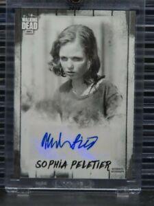 2018 Topps AMC The Walking Dead Sophia Peletier Auto Autograph #4/5 Z156