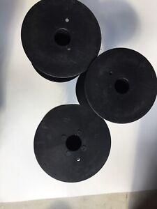 """6.25""""EMPTY Plastic Spools Crafts  Cord Ribbon REEL HOSE 3 Pieces"""