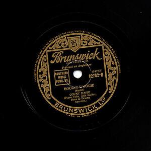 Clásico Número Basie 78 Boogie Woogie / How Long Blues GB Brunswick 02762E