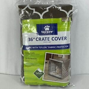 Top Paw Crate Cover 36 Inch Teflon Fabric Protector Brown dog cage Fast Shipping