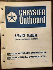 1978 Chrysler Outboard 20HP Service Manual OB979