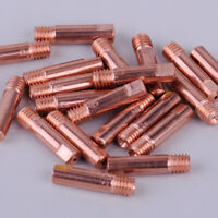 20pcs MB-15AK MIG/MAG Welding Torch Contact Tip 0.9 x 24mm Copper Gas Nozzle ut