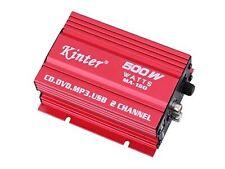 AMPLIFICATORE MINI 2 CANALI 500W USB  AUTO MOTO BARCA