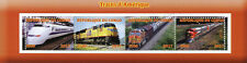 Congo 2017 CTO American Trains from America 4v M/S Railways Rail Stamps