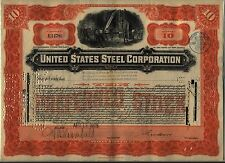 1905 United States Steel Corporation Stock Certificate Foreign Stamp US