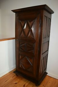 18th Century French Louis XIII Style Antique Bonnetiere (Armoire) from Normandy