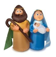 CHRISTMAS GEMMY HOLY FAMILY AIRBLOWN INFLATABLE MARY JOSEPH JESUS YARD DECOR