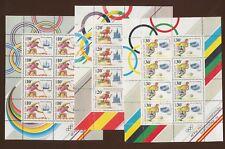 RUSSIA  - scott 6023a-6025a VFMNH   S/S of eight each - Barcelona Olympics 1991