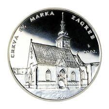 CROATIA SILVER MEDAL-hand forging- Zagreb- crkva sv. Marka- NEW !!!