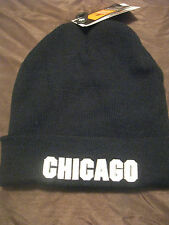 "NEWHATTAN ""CHICAGO"" KNIT BEANIE, BLACK, UNISEX, ONE SIZE FITS ALL"