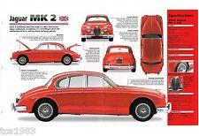 Jaguar MK Mark 2 SPEC Hoja /FOLLETO/FOLLETO/ CATALOG: 1959,1960, 1961