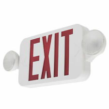 Combo UL924 Fire Safety - COMBORJR LED Exit Sign & Emergency Light – RED Compact