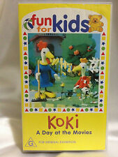 ABC FUN FOR KIDS~ KOKI ~ A DAY AT THE MOVIES ~ RARE VHS VIDEO