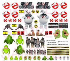 1/64 GHOST BUSTERS  WATER-SLIDE DECALS FOR HOT WHEELS, MATCHBOX, SLOT CAR: