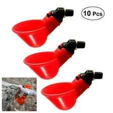 10Pcs Poultry Water Drinking Cups Chicken Hen Plastic Automatic Drinker Drinks