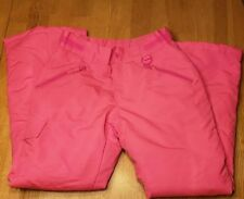 Girls Roebuck & Co Ski Snow Pants -  Zip Pocket Padded - M (10-12) Pink