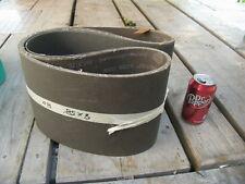 """Two 8"""" X 58"""" Sanding Belts (80 Grit) Carborundum Aloxite"""