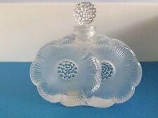 """Authentic Vintage Lalique """"Deux Fleurs"""" Perfume - Scent Bottle~Signed~Perfect"""