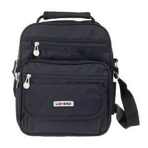Lorenz Large Gadget Flight Bag Organiser Men's Black Polyester  29 x 24 x 13 cms