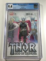 Thor God of Thunder #1 CGC 9.4 Ribic Variant Cover - Marvel Comics 2013   | 2 6
